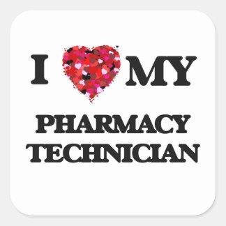 私は私の薬学の技術者を愛します スクエアシール