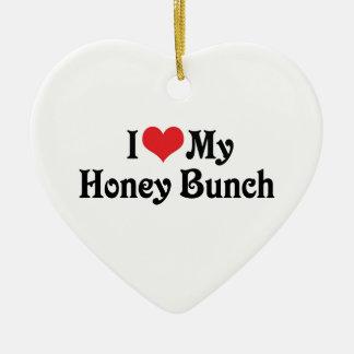 私は私の蜂蜜の束を愛します セラミックオーナメント