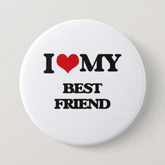 私は私の親友を愛します 7.6CM 丸型バッジ