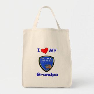 私は私の警察の祖父を愛します トートバッグ