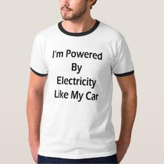 私は私の車のような電気によって動力を与えられます Tシャツ