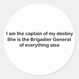 私は私の運命の大尉です ラウンドシール