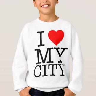 私は私の都市を愛します スウェットシャツ