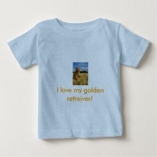私は私の金retreiverを愛します! ベビーTシャツ