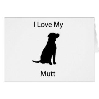 私は私の雑種犬を愛します カード