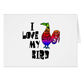 私は私の鳥を愛します カード