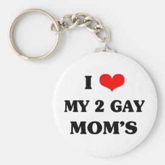 私は私の2人のゲイのお母さんを愛します キーホルダー