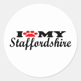 私は私の(犬)スタッフォードを愛します ラウンドシール