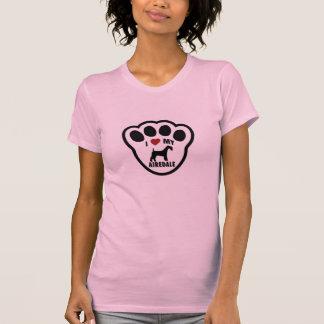 私は私のAirdaleテリアの女性タンクトップを愛します Tシャツ