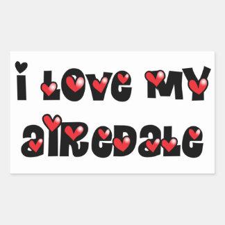 私は私のAiredaleを愛します 長方形シール