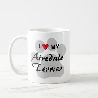 私は私のAiredaleテリアを愛します コーヒーマグカップ