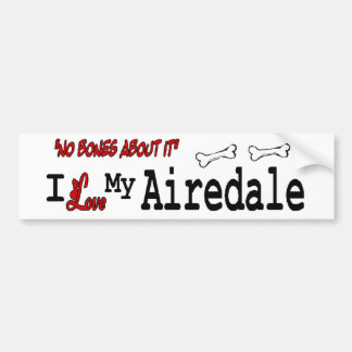 私は私のAIREDALEテリアを愛します バンパーステッカー