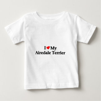 私は私のAiredaleテリアを愛します ベビーTシャツ