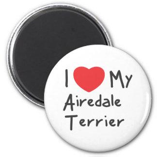 私は私のAiredaleテリアを愛します マグネット
