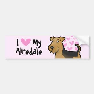 私は私のAiredaleテリア/ウェルシュテリアを愛します バンパーステッカー