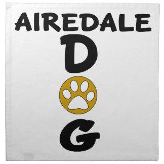 私は私のAiredale犬のデザインを愛します ナプキンクロス