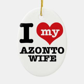 私は私のazontoのボーイフレンドを愛します セラミックオーナメント