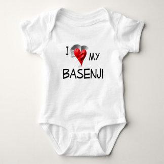 私は私のBasenjiを愛します ベビーボディスーツ