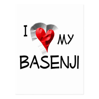 私は私のBasenjiを愛します ポストカード