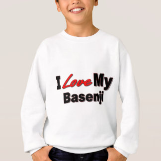 私は私のBasenji犬の商品を愛します スウェットシャツ