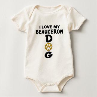 私は私のBeauceron犬のデザインを愛します ベビーボディスーツ