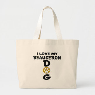 私は私のBeauceron犬のデザインを愛します ラージトートバッグ