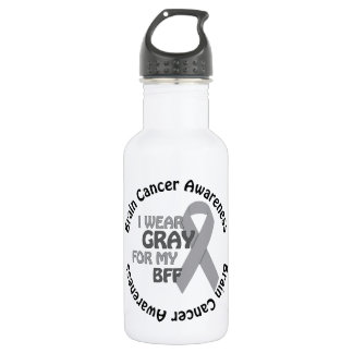 私は私のBFFサポート脳腫瘍のための灰色を身に着けています ウォーターボトル