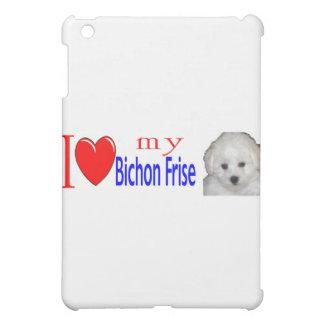 私は私のbichonのfriseの子犬を愛します iPad miniケース