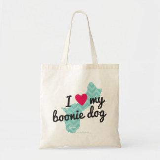 私は私のBoonie犬のトートバックを愛します トートバッグ
