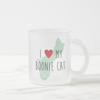 私は私のBoonie猫のマグを愛します フロストグラスマグカップ