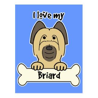 私は私のBriardを愛します ポストカード