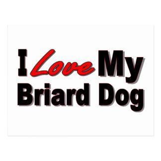 私は私のBriard犬の商品を愛します ポストカード