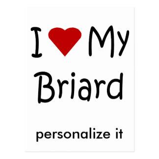 私は私のBriard犬の恋人のギフトおよび服装を愛します ポストカード