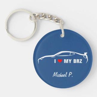私は私のBRZを愛します-あなたの写真を加えて下さい! 丸型(片面)アクリル製キーホルダー