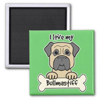 私は私のBullmastiffを愛します マグネット
