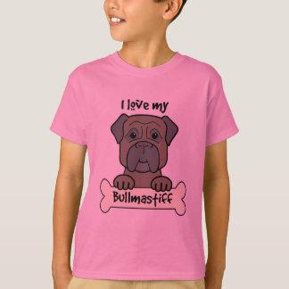 私は私のBullmastiffを愛します Tシャツ