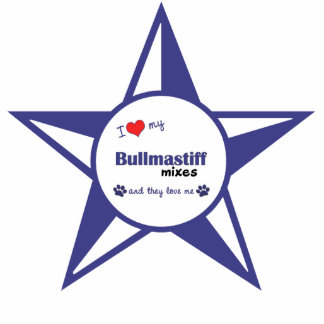 私は私のBullmastiffを混合します愛します(多数犬) 写真彫刻オーナメント