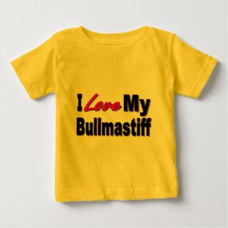 私は私のBullmastiff犬の商品を愛します ベビーTシャツ