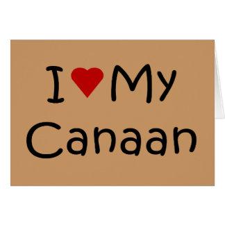私は私のCanaan犬の品種恋人のギフトを愛します カード