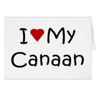 私は私のCanaan犬の品種恋人のギフトを愛します グリーティングカード