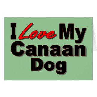私は私のCanaan犬の商品を愛します カード