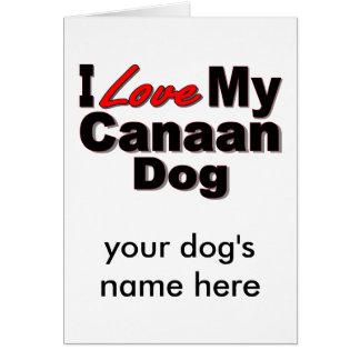 私は私のCanaan犬の商品を愛します グリーティングカード
