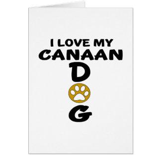 私は私のCanaan犬犬のデザインを愛します グリーティングカード