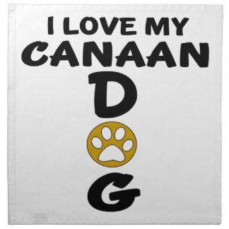 私は私のCanaan犬犬のデザインを愛します ナプキンクロス