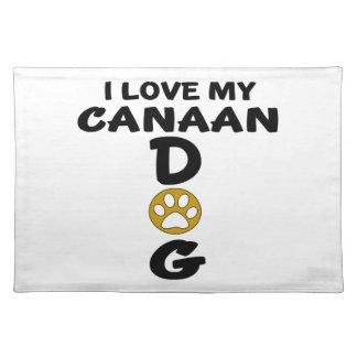 私は私のCanaan犬犬のデザインを愛します ランチョンマット