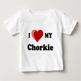 私は私のChorkie犬の恋人のギフトを愛します ベビーTシャツ