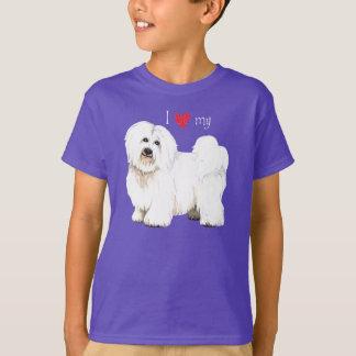 私は私のCoton de Tulearを愛します Tシャツ
