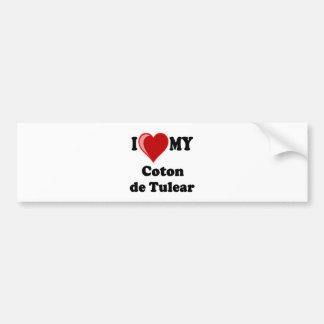 私は私のCoton De Tulear Dogを愛します バンパーステッカー