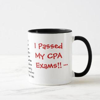私は私のCPAの検査に合格しました! -三倍は味方しました マグカップ