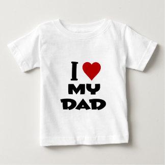 私は私のdad.pngを愛します ベビーTシャツ